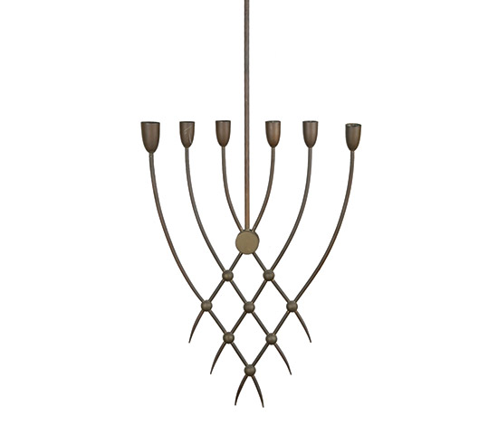 Italian brass chandelier by Boetto