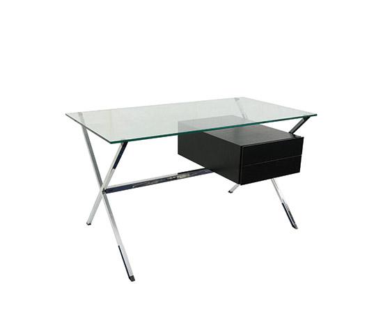 Boetto-Glass and chromed steel desk