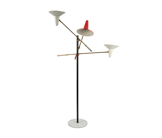 Metal floorlamp w. marble base