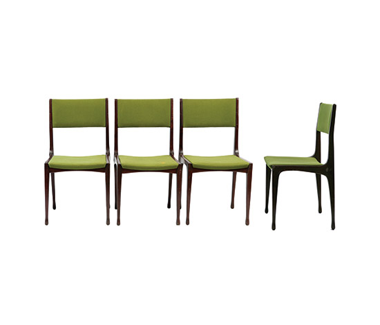 "Four ""693"" chairs von Boetto"
