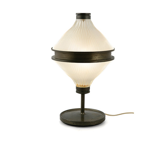 "Brass and crystal table lamp ""Aglaia"" di Boetto"