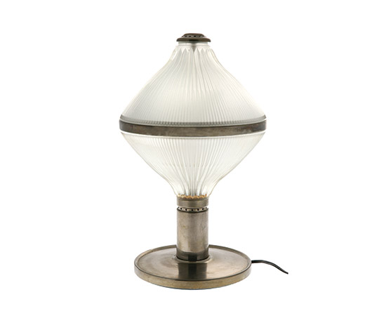 "Boetto-Brass and crystal table lamp ""Aglaia"""