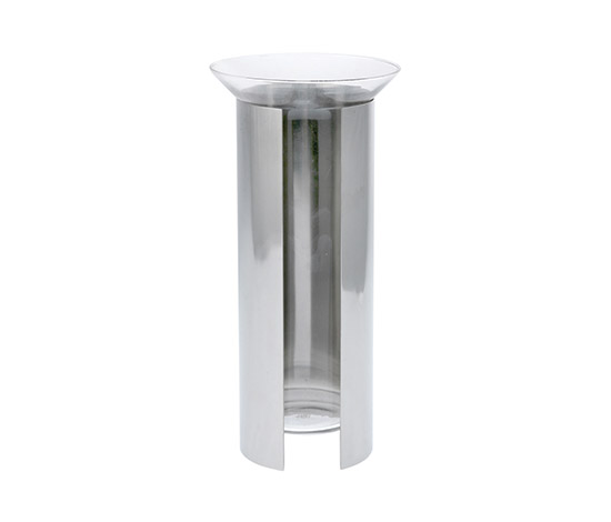 """""""Camicia 3033C"""" aluminum / glass vase by Boetto"""