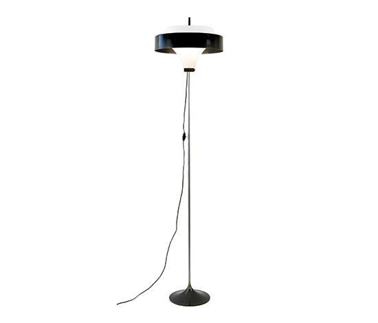 Metal and perspex floor lamp von Boetto