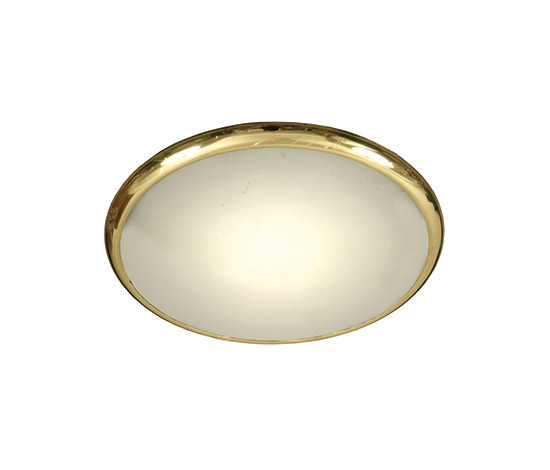 "Crystal and brass ""1477"" ceiling lamp"