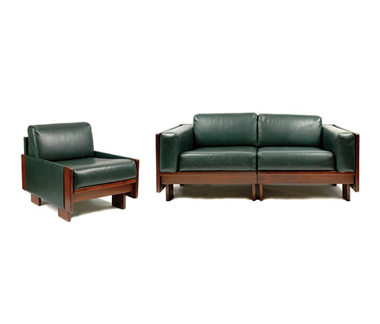 """920"" rosewood armchair and sofa"