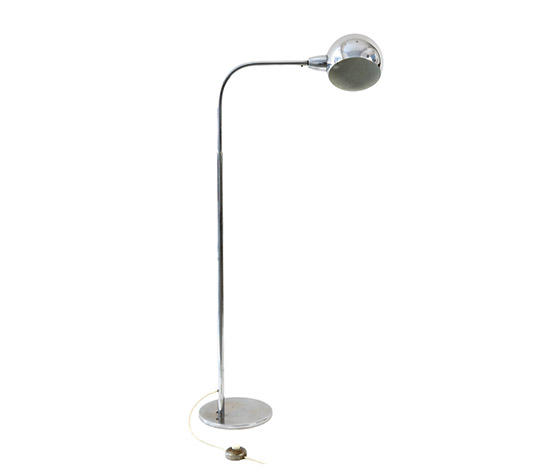 """Venticinque"" chromed brass floor lamp"
