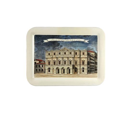 """""""Facciata del Teatro della Scala"""" tray by Boetto"""