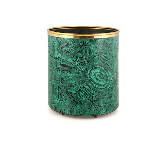 """Malachite"" waste paper basket by Boetto"