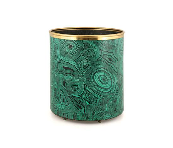 Malachite Waste Paper Basket Design Objects 4108761