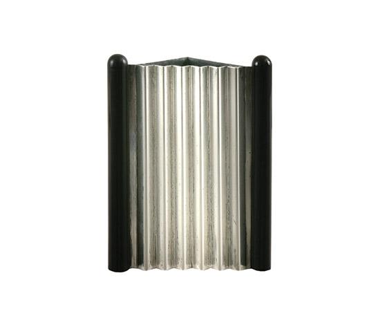 "Boetto-""Programma D"" silver and ebony vase"