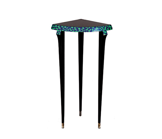"""Agrilo"" glass / lacquered wood console"