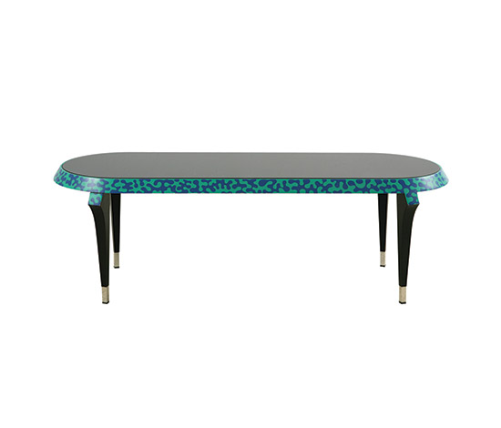 """Agrilo"" glass / lacquered coffee table"