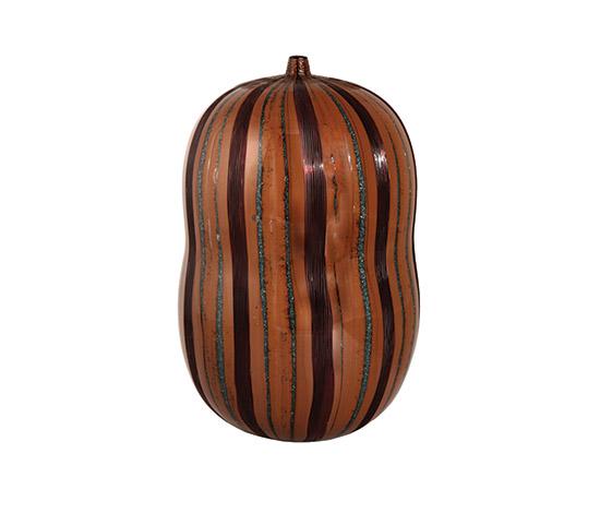 Boetto-Unique glass vase, powder grain inserts