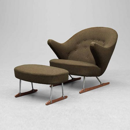 Armchair/footstool by Bukowskis