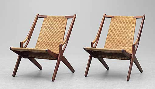 Folding easy chairs