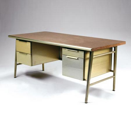 Aluminum Secretary Desk