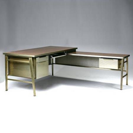 Aluminum Pedestal Desk