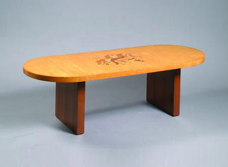 Bonhams & Butterfields-Marquetry coffee table