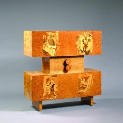 Marquetry cabinet by Bonhams