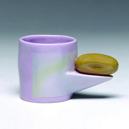 Glazed ceramic coffee cup