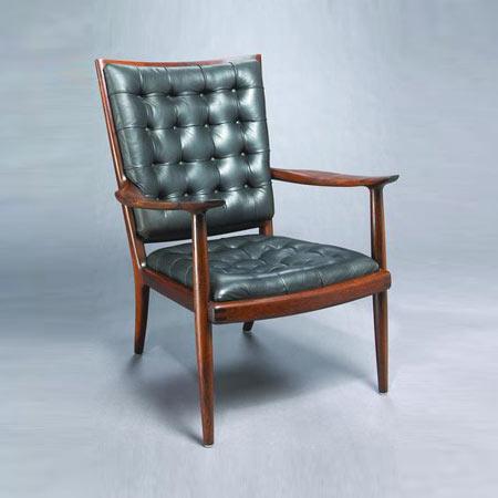 Brazilian rosewood armchair