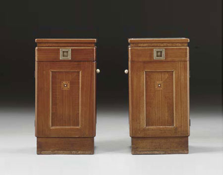 Side cabinets, pair