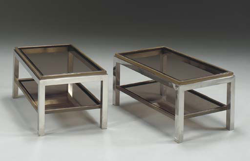 Two-tier end tables by Christie`s