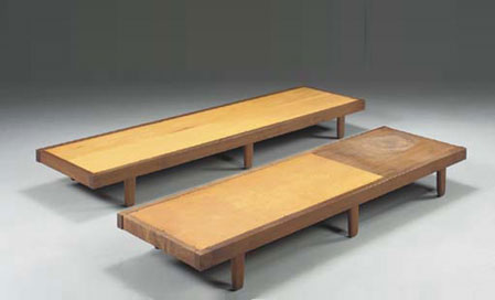 Benches, pair
