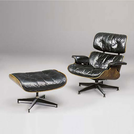 Lounge chair/ottoman by Christie`s