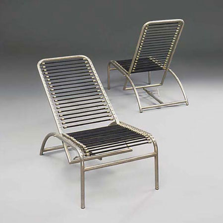 Sandows lounge chairs, pair