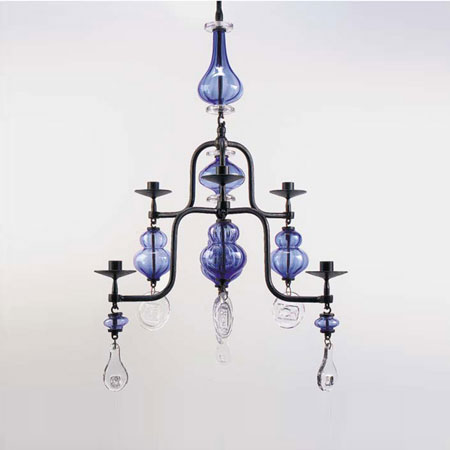 Picture gallery >> Chandelier >> Christies`s @ Architonic :  blue glass ceiling chandelier