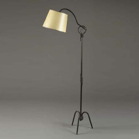 Wrought Iron Floor Lamp By Christie`s