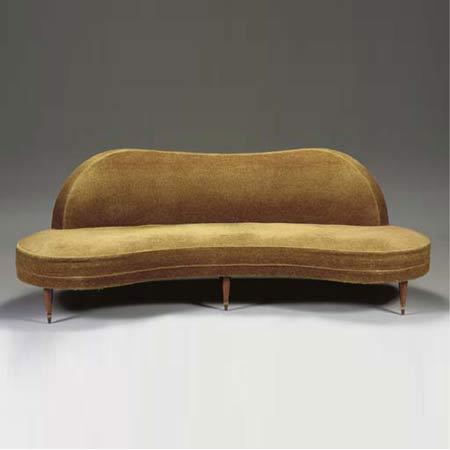 Upholstered 'Flaque d'eau' sofa