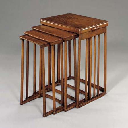 Bentwood nesting tables by Christie`s