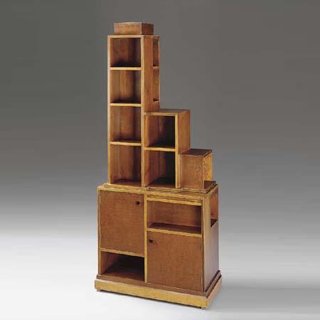 Mahagony 'Skyscraper' bookcase