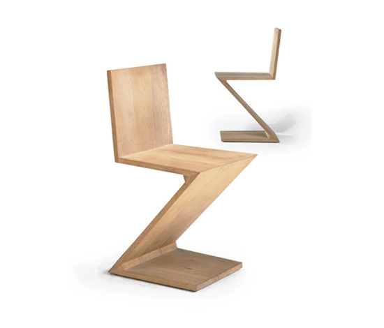 Zig zag chairs (pair) by Christie`s