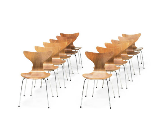 Seagull chairs (set of 12) by Christie`s