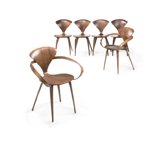 Cherner chairs (set of 6) de Christie`s