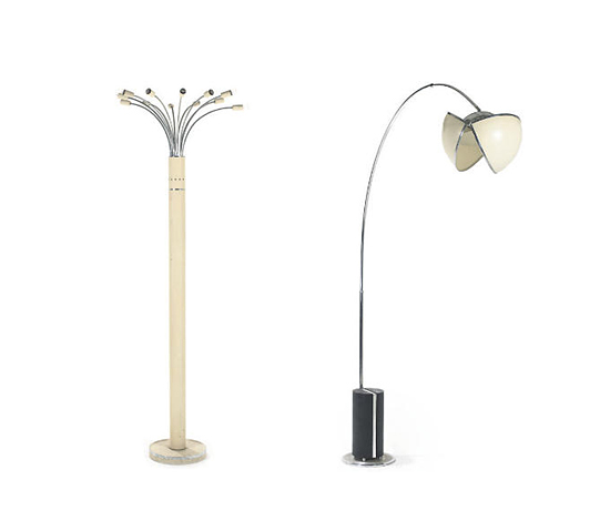 TWO FLOOR LAMPS von Christie`s