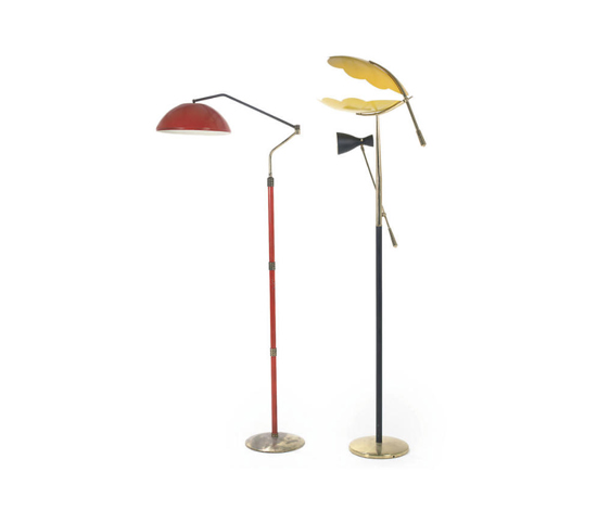 TWO ADJUSTABLE FLOOR LAMPS