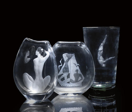 Carved vases (3 works)