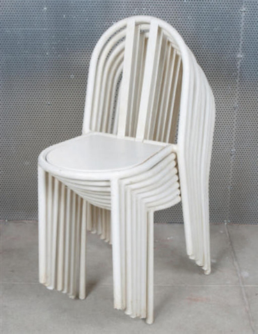Stacking chairs (set of 8)
