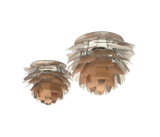 Artichoke chandeliers (pair)