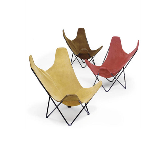 Butterfly chairs, three
