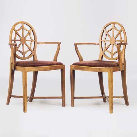 Spiderback armchairs
