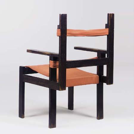 Lath armchair