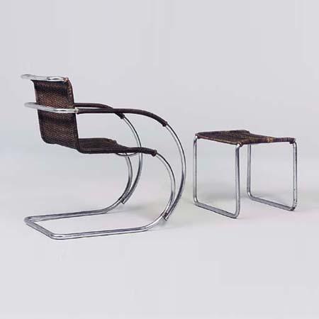 MR20-type armchair / MR1-type stool