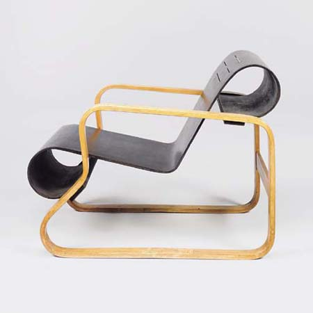 Picture gallery >> Model 41 Lounge chair >> Christies`s @ Architonic :  laminated curves lines modern