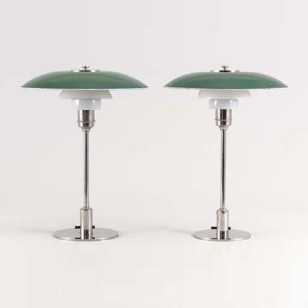 PH-3 table lamps by Christie`s